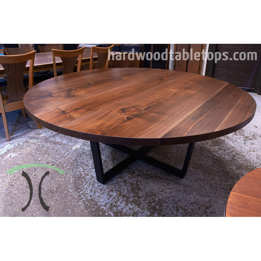 Round Custom Made Hardwood Table Top Builder 1 75 Inches Rh  Hardwoodtabletops Com 52 Inch Round Glass Table Top 52 Inch Round Wood Table  Top