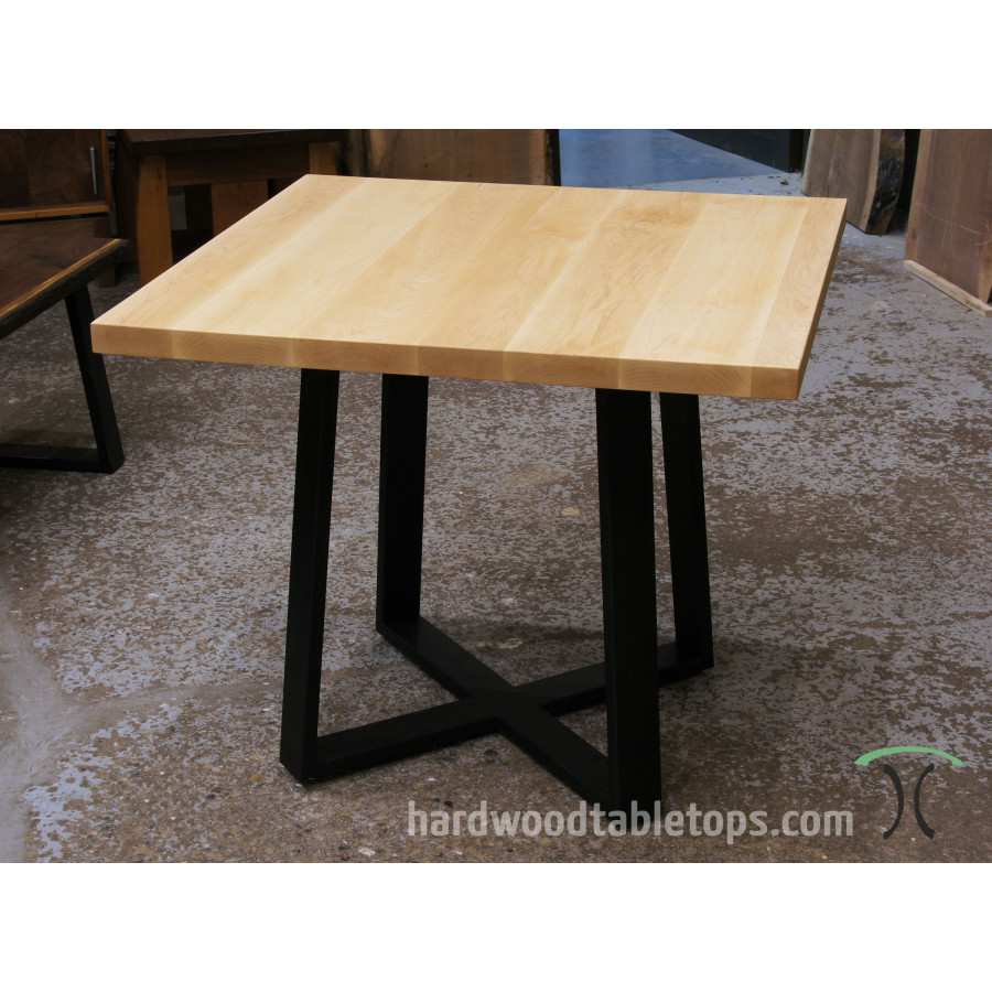 Thick Custom Made Hardwood Table Top Builder - Custom restaurant table tops