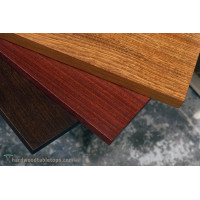 "Sapele slab table tops - substantial 2.5"" thick tables"