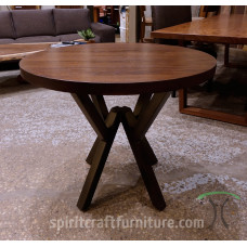 Custom Round Table Top Builder with Many Base Options - Smaller Diameter Solid Wood Dining, Kitchen and Cafe Tables