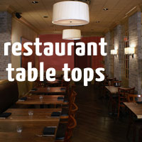 Quality Custom Made Solid Wood Restaurant Table Tops - Custom restaurant table tops