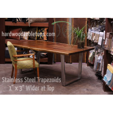 Custom Steel and Stainless Trapezoid Table Legs