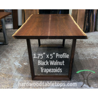 Custom Made Trapezoid Legs in Solid Hardwood
