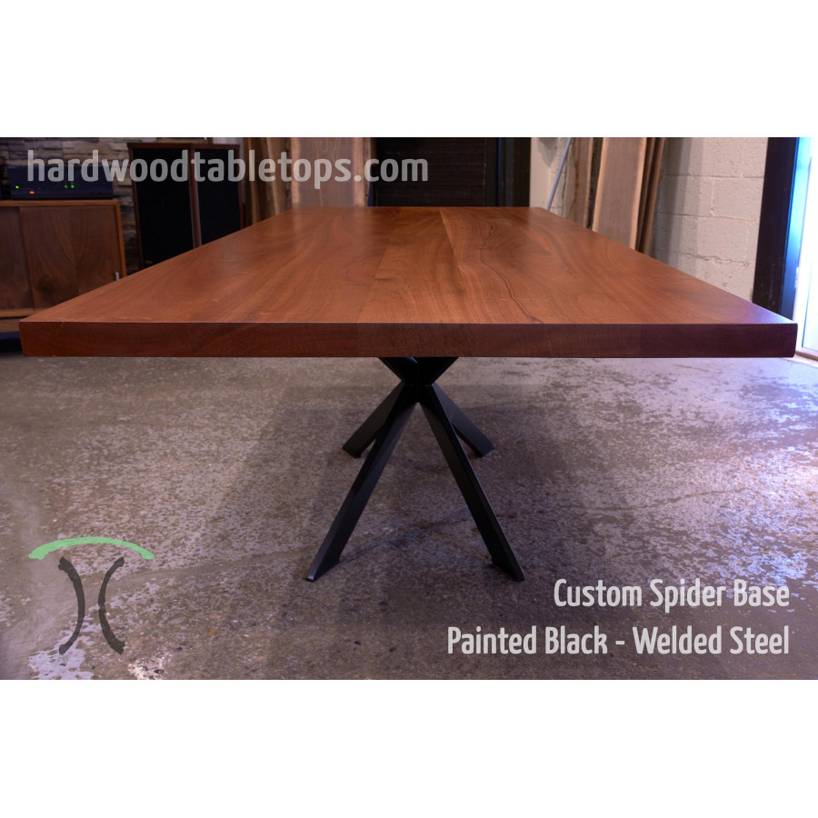 Steel Spider Leg Base For Your Custom Solid Wood Table Top - Welded table base