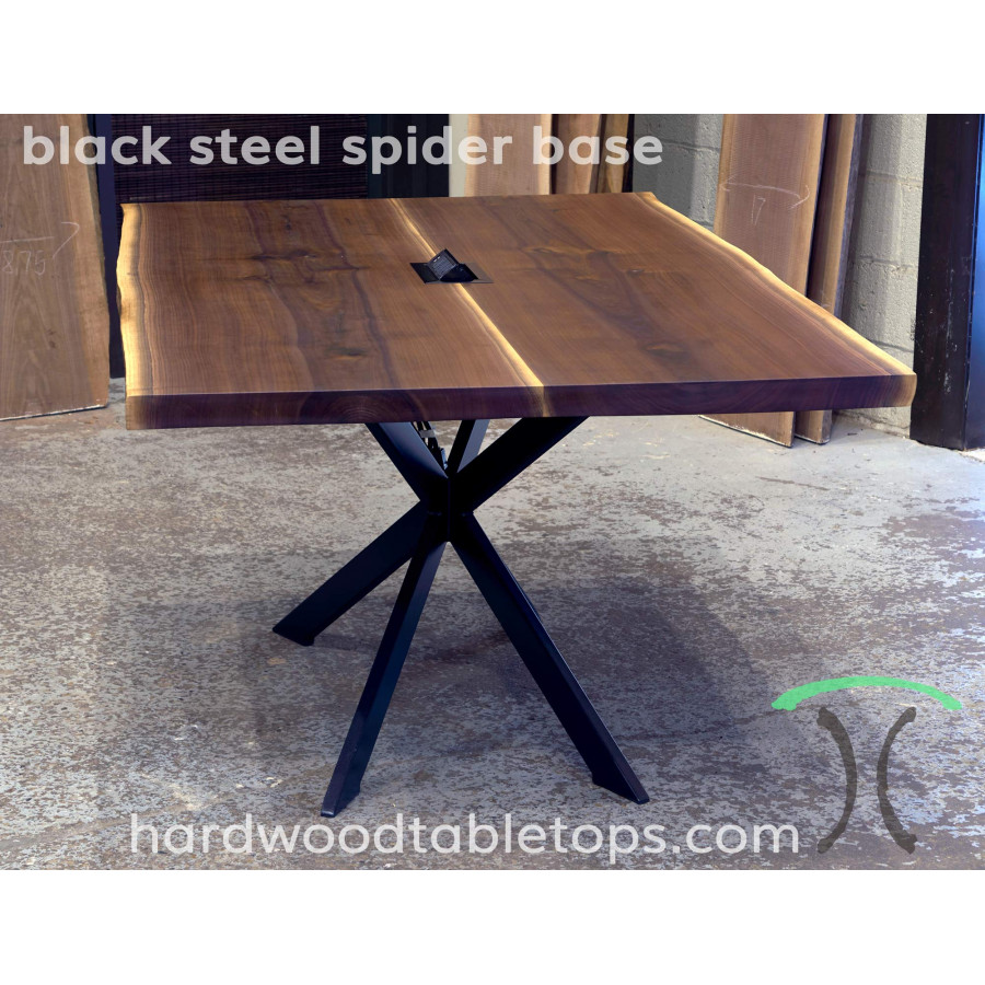 Steel Spider Leg Base For Your Custom Solid Wood Table Top