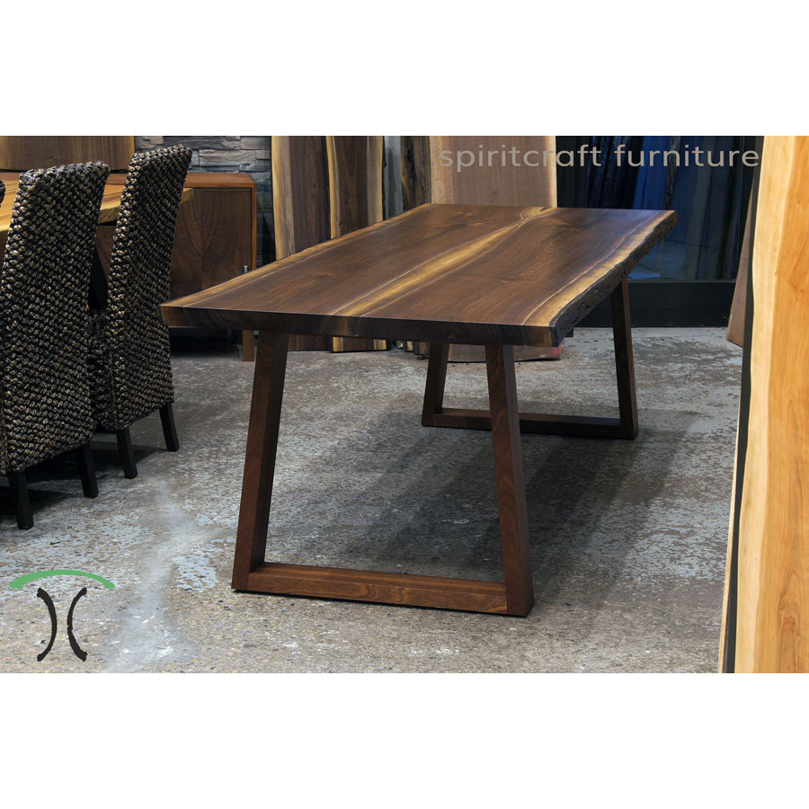 89b968f6d928d Custom made solid hardwood trapezoid style table legs