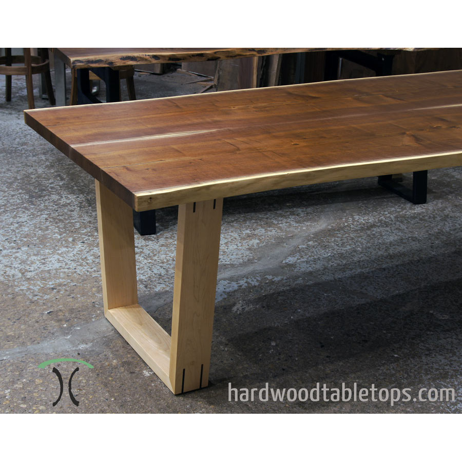 Custom made solid hardwood trapezoid style table legs custom made trapezoid legs in solid hardwood watchthetrailerfo