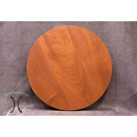 "Solid Sapele Mahogany Round Cafe or End Table Top, 30"" x 1.75"" 3001"