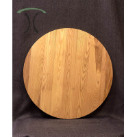 "Solid Ash Round Cafe or End Table Top, 36"" x 1.25"" 3002"