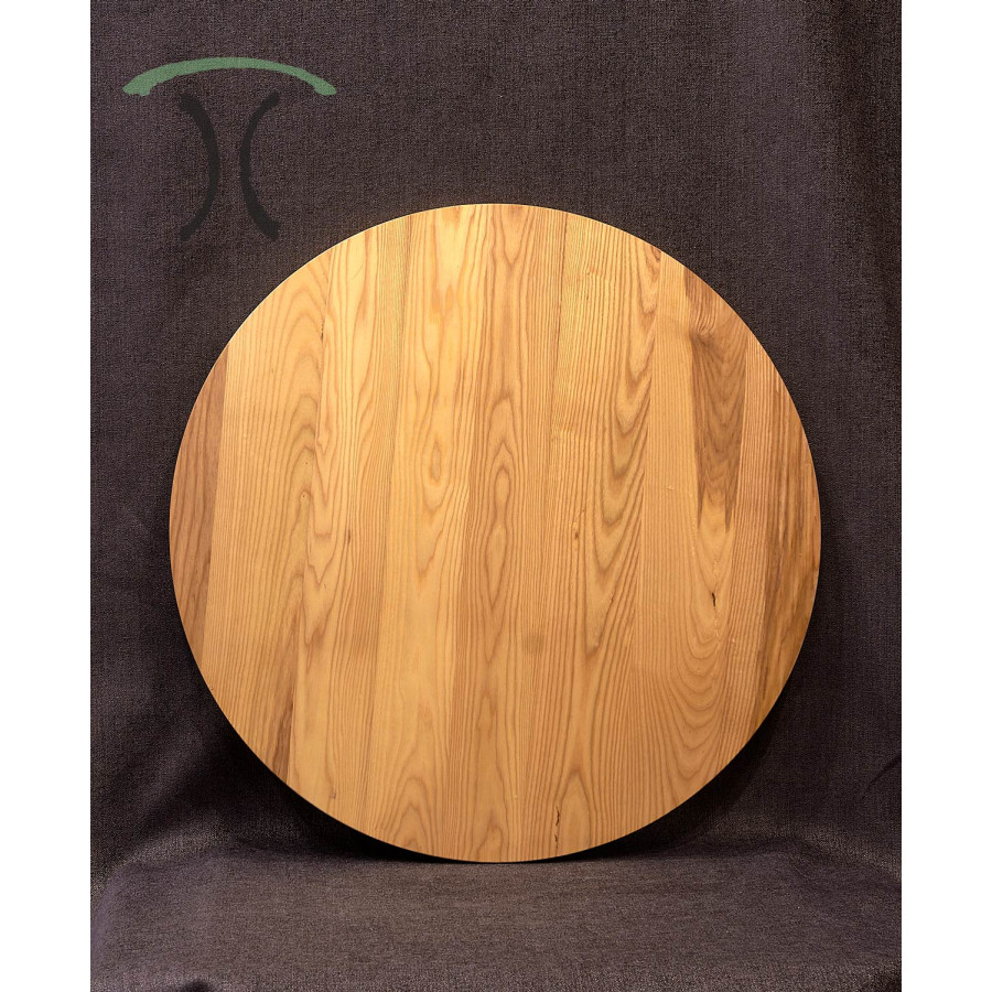 Solid Ash Round Cafe Or End Table Top