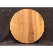 """Solid Ash Round Cafe or End Table Top, 27"""" x 1.25"""" 3003"""