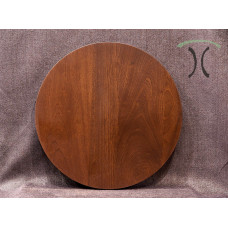 """Solid Sapele Mahogany Round Cafe or End Table Top, 24"""" x 1.25"""" 3005"""