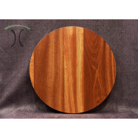"Solid Sapele Mahogany Round Cafe or End Table Top, 24"" x 1.25"" 3006"
