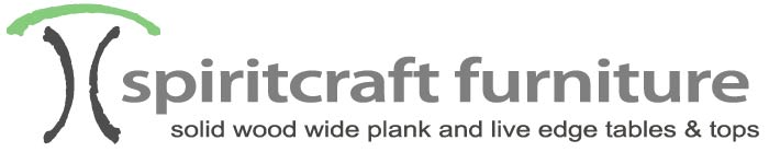 Spiritcraft Furniture offers heirloom quality solid wood tables and table tops.