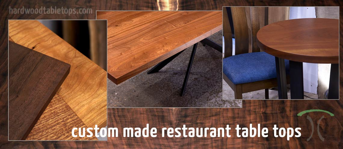 Custom Made Restaurant Table Tops In Solid Hardwoods