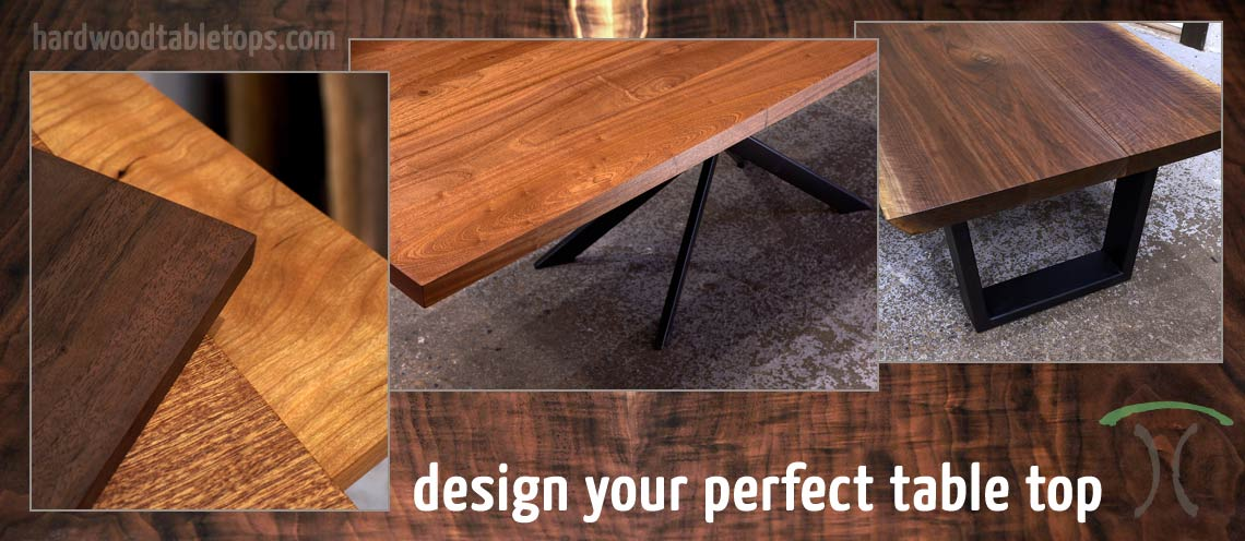 Custom Made Solid Hardwood Table Tops